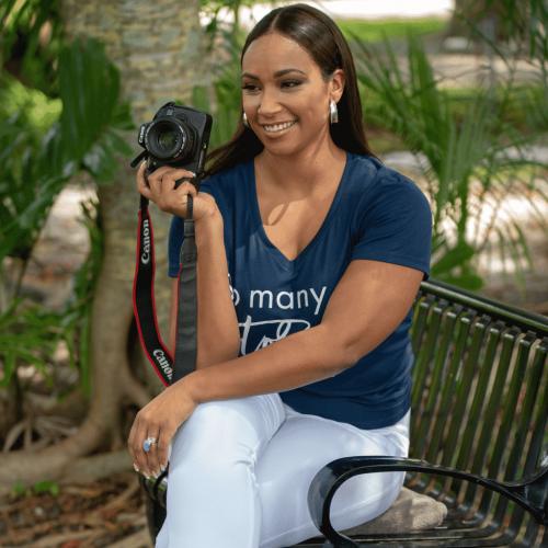 Tamika Bickham with Camera